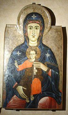Maestro del Bigallo - Madonna col Bambino - 1215-1220 - Fiesole, Cattedrale di San Romolo