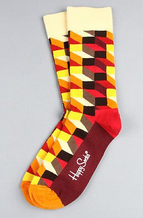 The Optic Socks in Assorted Color by Happy Socks Get 20% off with use of repcode: PLNDR11