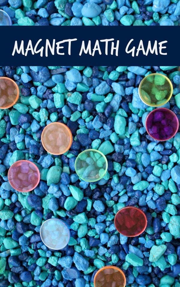 Magnet math game for preschoolers and kindergarteners