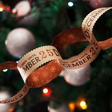 East of India Christmas Xmas Paper Chain  Do Not Open Until December 25th