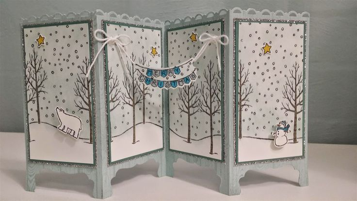 www.chloscraftcloset.blogspot.com.au - Something special for Mum - White Christmas Shutter Card