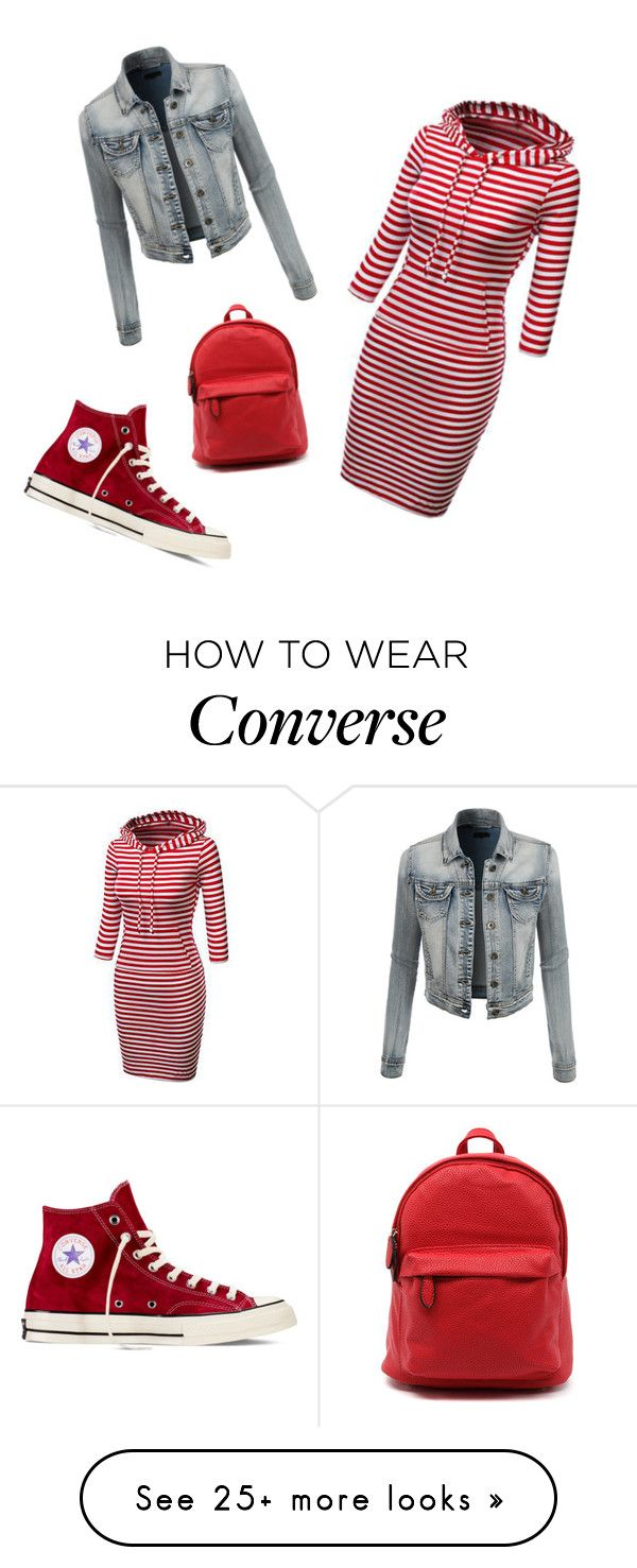 """Untitled #48"" by irfanomerovic on Polyvore featuring Mode, Converse und LE3NO"