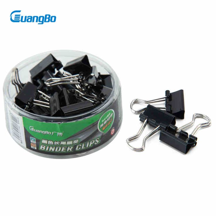 Guangbo 15mm Binder Clips 30 Pcs/Box Office Accessories Multifunctional Classic Notes Paper Letter Clip PJ5242