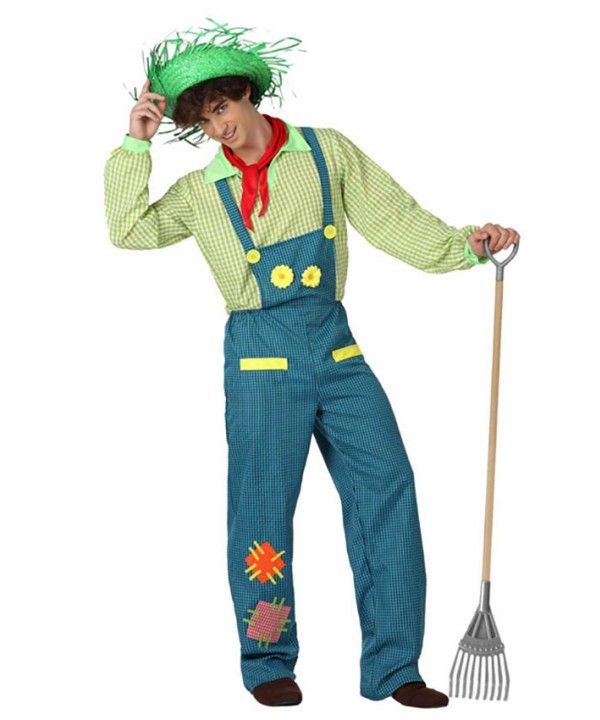 Fato Agricultor Jardineiro Adulto, Loja de Fatos Carnaval, Disfarces, Artigos para Festas, Acessórios de Carnaval, Mascaras, Perucas 949 acasadocarnaval.pt