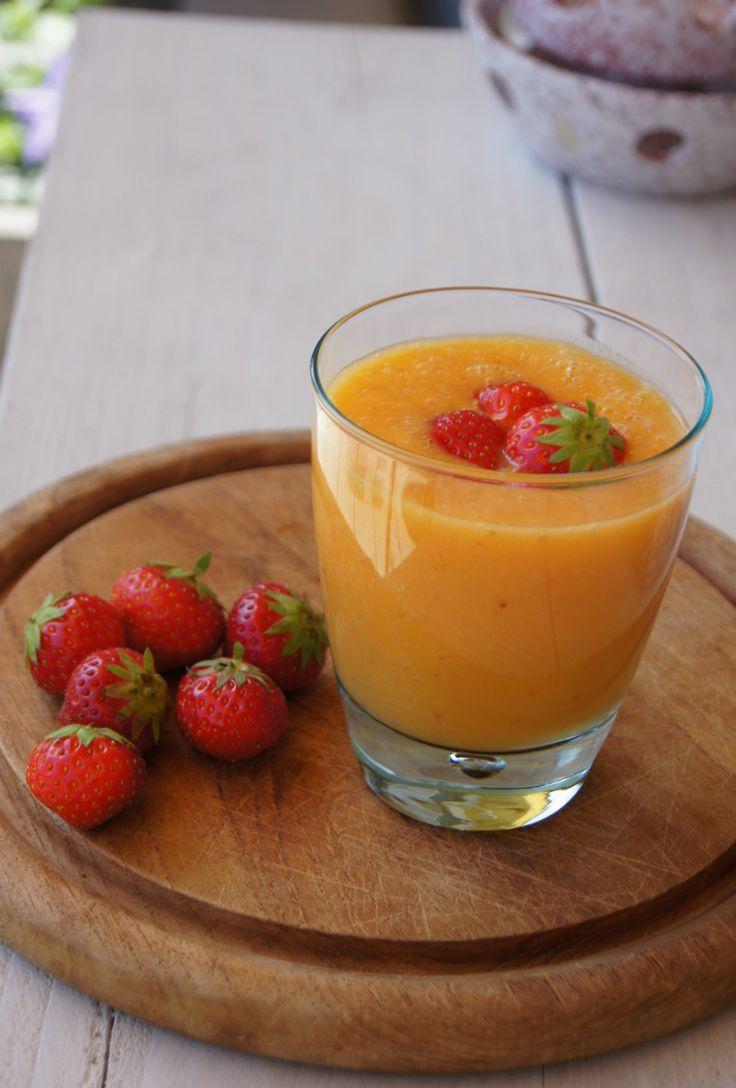Mango Aardbei Smoothie