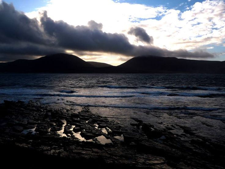 Scapa Flow and the Hoy Hills, seen from the shore at Stromness.