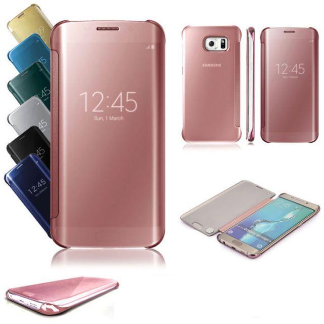 Espejo De Lujo Cierre Magnetico Claro Inteligente Funda Cubierta Para Samsung Ga Galaxy Phone Cases Samsung Galaxy S7 Edge Folio Phone Case