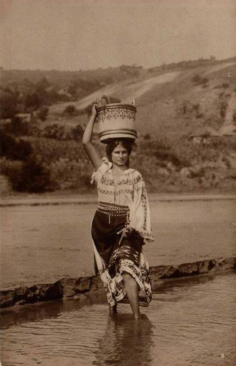 vintage Romanian girl