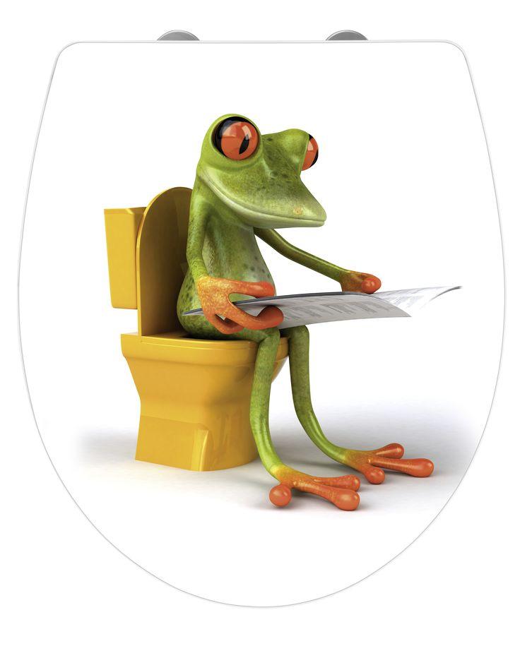 WENKO WC-Sitz Hochglanz Acryl Frog News Absenkautomatik Fix-Clip Hygiene Befestigung  Description: Die innovativen Acryl WC-Sitze von WENKO bringen frischen Schwung in jedes Bad und Gäste-WC. Der trendige WC-Sitz Frog News ist aus hochwertigem Duroplast gefertigt und mit einer hochglänzenden Acryloberfläche ausgestattet. Neben dem individuellen witzigen Frosch-Design verfügt der komfortable WC-Sitz über praktische Zusatzfunktionen. Die integrierte Easy-Close Absenkautomatik macht endlich…