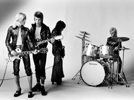 """David Bowie and Mick Ronson Plus Trevor Bolder and Mick """"Woody"""" Woodmansey: Ziggy Stardust & The Spiders from Mars"""