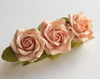 Flor de arcilla del polímero de la barrette del por FloraAkkerman