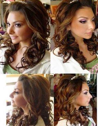 Wedding Hair Down with Tiara | Bridal hair down with tiara pictures 3