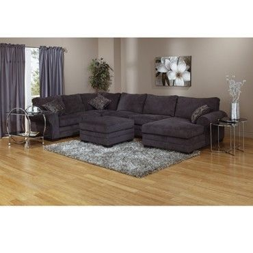 25 best images about gray sectional sofas on pinterest for Charcoal sofa living room ideas