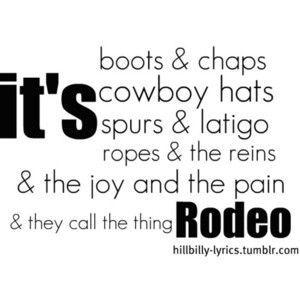 Rodeo - Garth Brooks. Totes guilty (80s) pleasure.