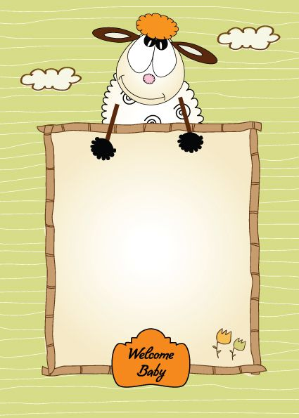 Set of Cute Children frame vector graphic 03