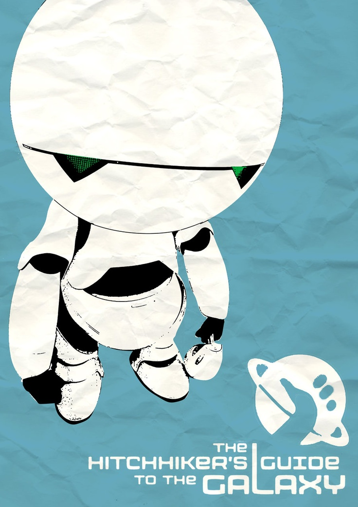 Marvin - Hitchhikers Guide to the Galaxy : by Zoe Toseland >> http://www.redbubble.com/people/thedisenchanter