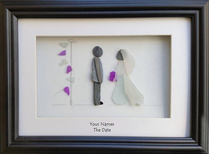 Arte di ghiaia nozze sposa e sposo sposa giorno ritratto