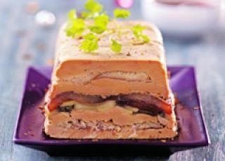 Pressé de foie gras et truite fumée