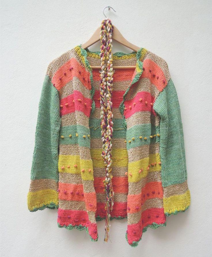Saco manga larga multicolor - PAULA Y AGUSTINA RICCI