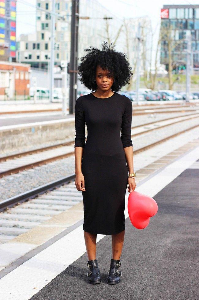 Black dress h&m zebra dress