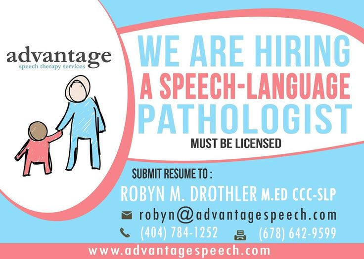 Need eye catching ad to advertise that my speech therapy company - submit resume
