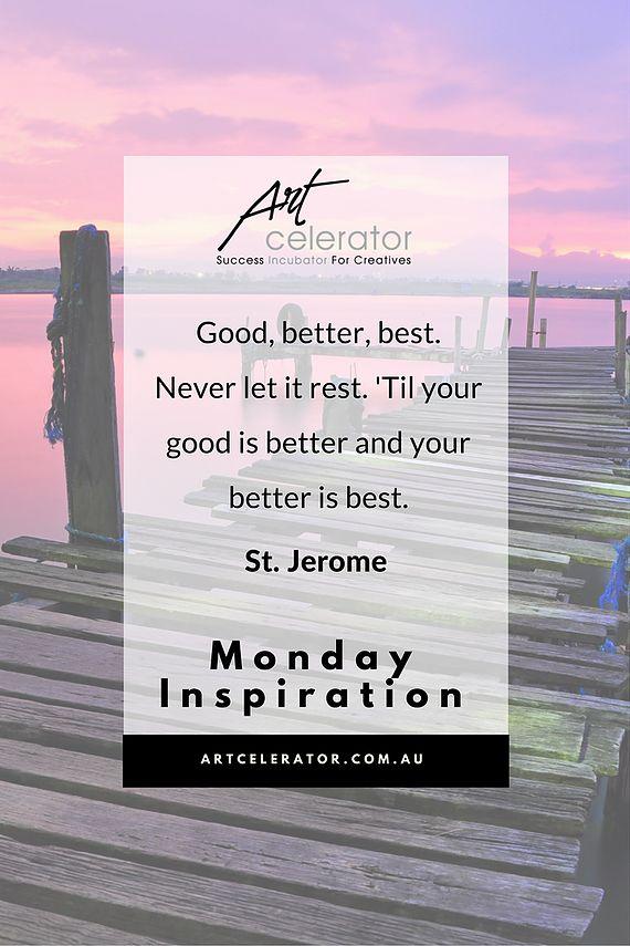 ArtCelerator Monday Motivation