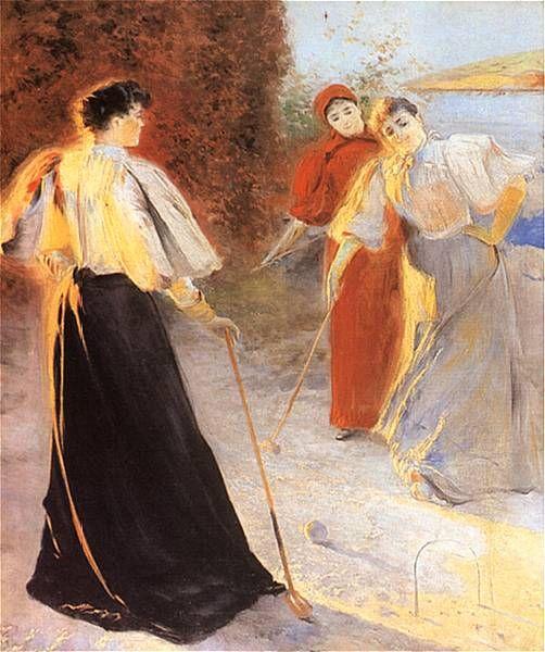 Croquet Game, Leon Wyczółkowski (1895)