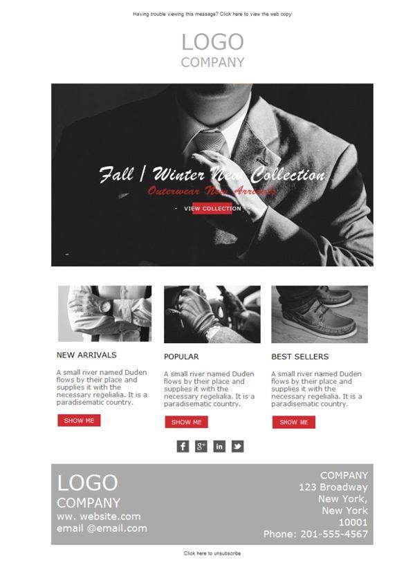 ¡Qué elegante es una tienda de ropa masculina que hace emailing con Mailify! Ahora, las plantillas newsletter se adaptan a tu local para que obtengas los mejores resultados.