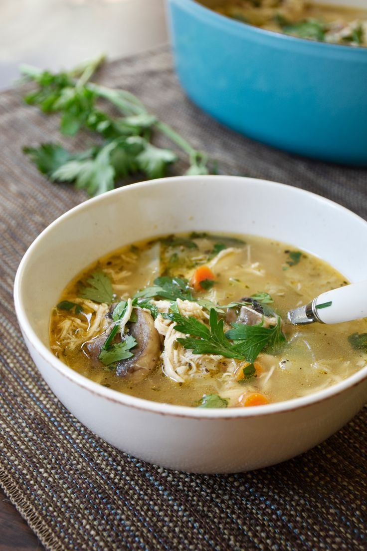 Made with healing bone broth, this keto chicken no-noodle soup with healthy cabbage is warm and comforting when it's cold outside, when you're fighting a cold, or you just crave a hearty soup!
