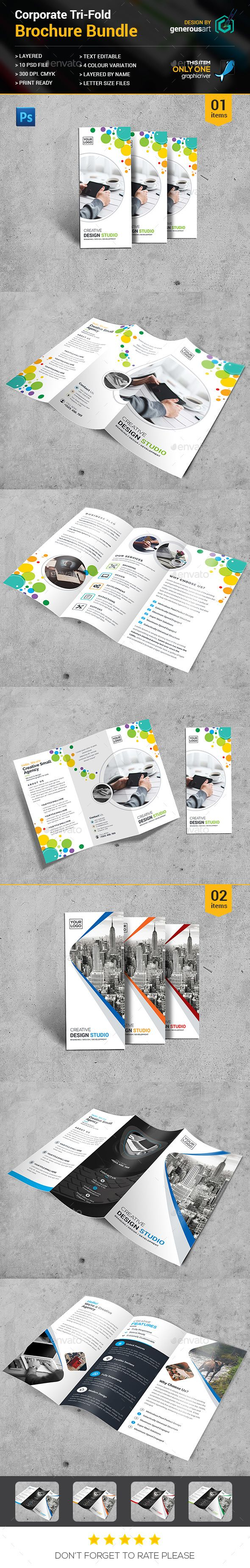 2 Tri-fold Brochure Templates PSD. Download here: http://graphicriver.net/item/trifold-bundle_2-in-1/16812800?ref=ksioks