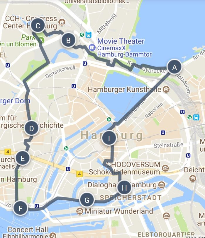 Hamburg Map Of Germany.Best Of Hamburg Germany Walking Tour Map And Sightseeing Guide