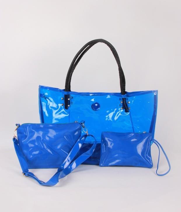 V11 Presents 1 Bolzo Blue Tote Bag Pouch Sling Set