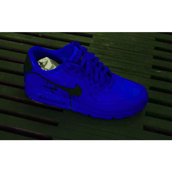 online store d30ae 96865 ... 90 custom candy drip airbrush blue purple galaxy shoes a9dec 6de50   real nike air max command nike make your own shoes aa08e 60890