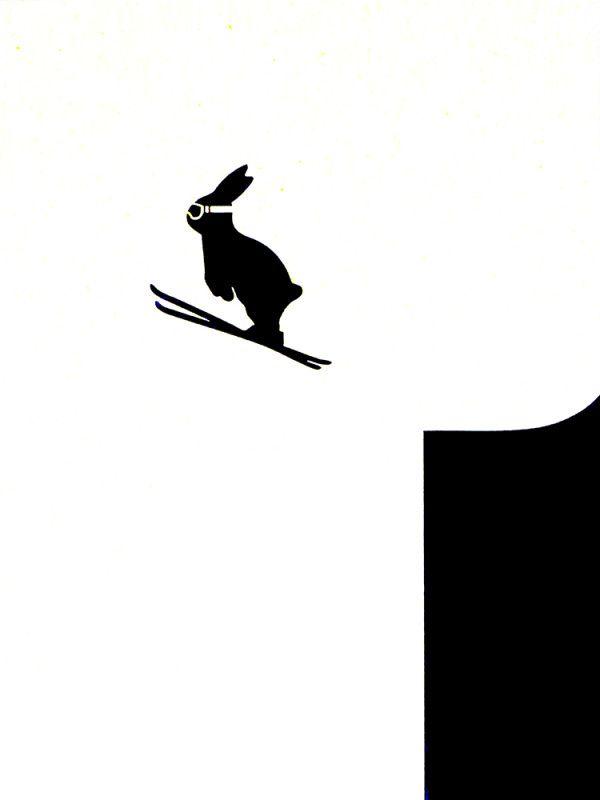 Print Club London – Ski Jumping Rabbit- Looking forward to the Winter Olympics!