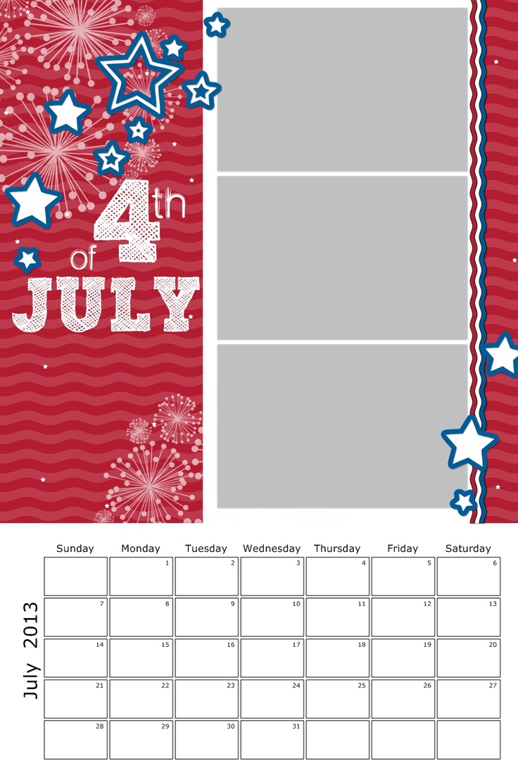 Calendar Ideas For July : Best of july scrapbook pages images on pinterest