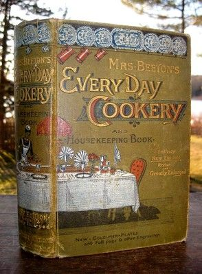 Mrs Beeton's Antique Cookbook Victorian Cookery Household Home Kitchen Recipes