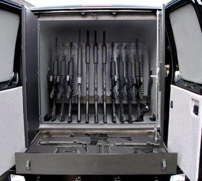 Going to be where i keep my guns in a Weapons Safe mounted in my hhr