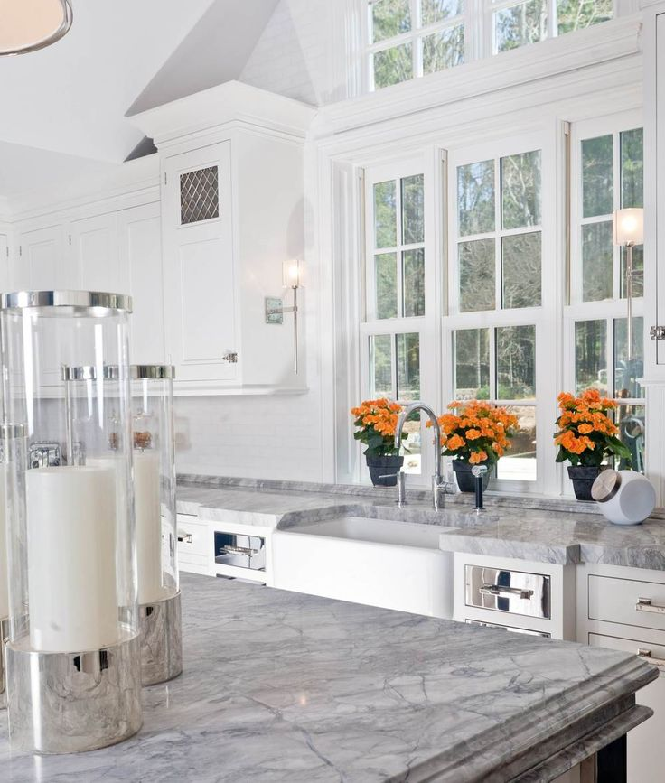 White Kitchen Tops: 58 Best Granite & Marble Images On Pinterest