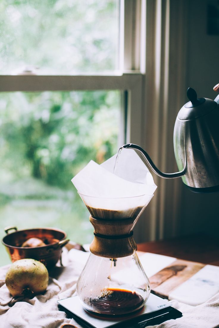 How to Brew Chemex Coffee Like a Pro | method via willfrolicforfood.com
