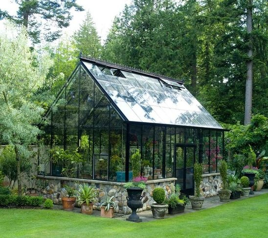 I like the stone foundation: Cape Cod Greenhouse - contemporary -  greenhouses - other metro - BC Greenhouse Builders Ltd