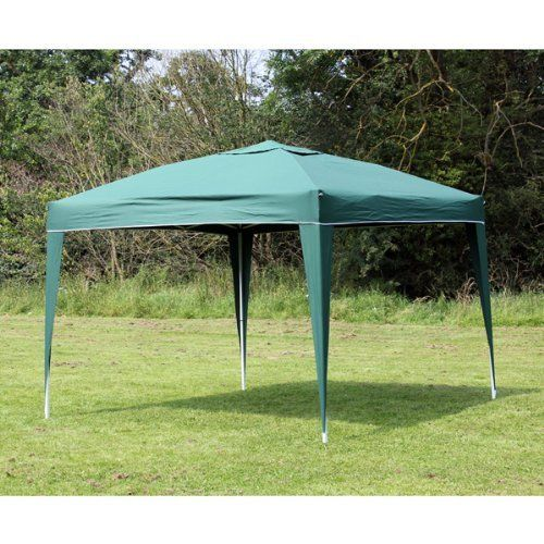 Palm Springs 10 x 10 EZ POP UP GREEN Canopy New Gazebo NO Sidewalls by Palm Springs Outdoor. $99.99. Sets up in less than 5 minutes. Color is Green. Sets up in 5 minutes or less. 500 denier heavy duty, professional polyester top is UV protected. Rust resistant white powder coated frame design built with strength and stability. Ideal for recreational use - parties, picnics, etc. Can be erected on hard surfaces such as decks, driveways, etc and soft surfaces too such as grass or s...