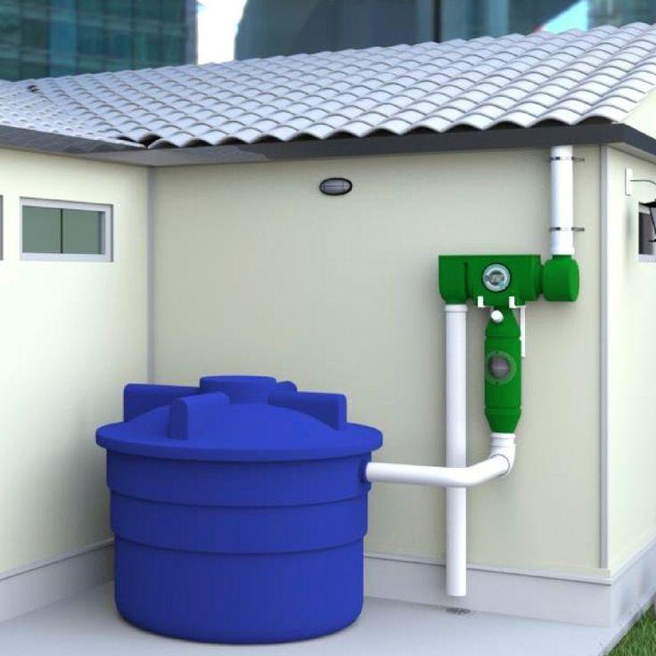 Sistema de captación de agua de lluvia para utilizar como agua potable. Elimina los residuos, regula el PH y agrega cloro, dejando el agua apta para el consumo. No utiliza energía eléctrica, es reciclable y fácil de instalar.