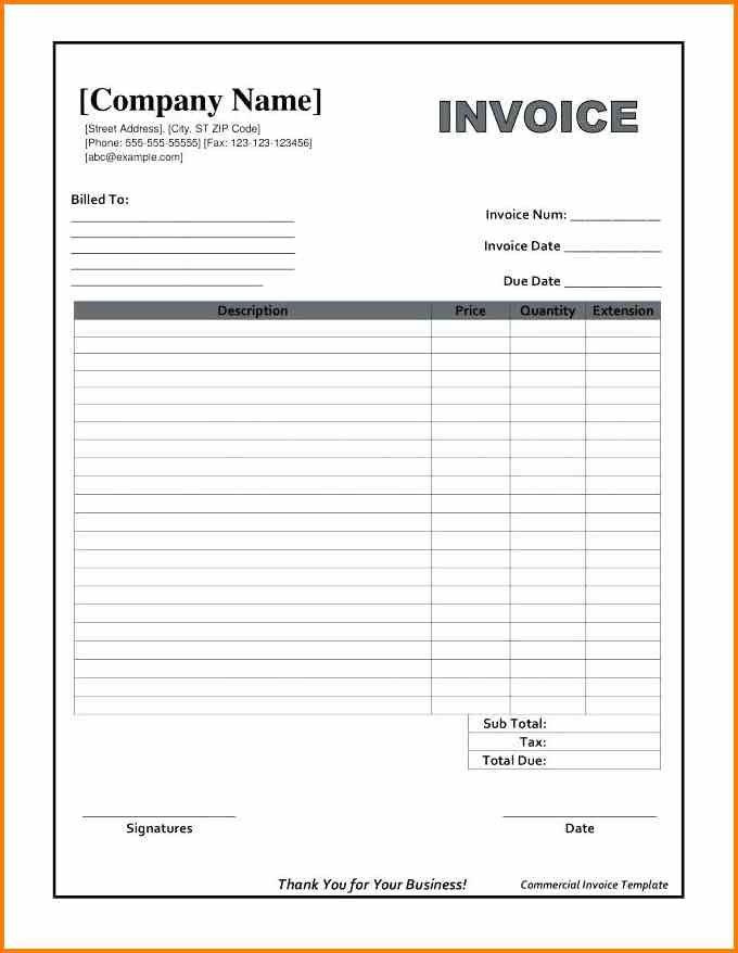 Receipt Invoice Template Online