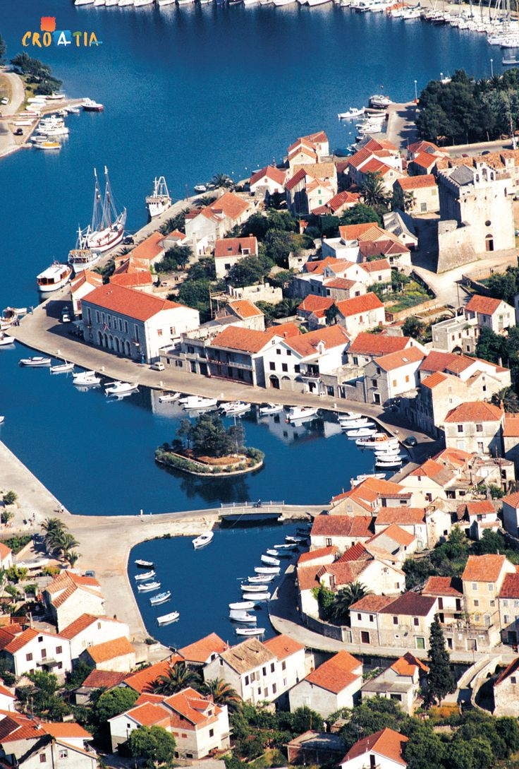 Vrboska on the island of Hvar, Croatia