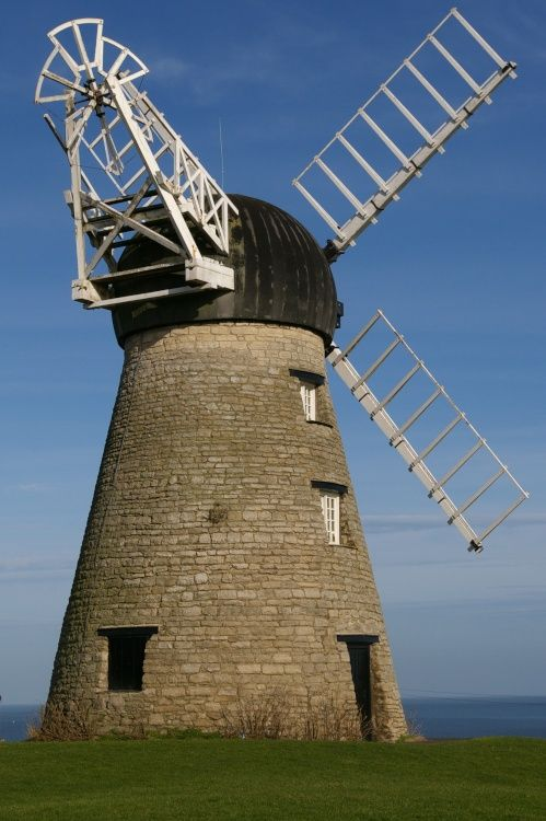 Whitburn Windmill, Whitburn, South Tyneside, Tyne and Wear. Located between South Shields and Whitburn Village on the Coast Road. Windmill overlooks the North Sea