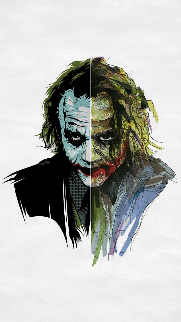 Download Wallpaper 720x1280 Joker, Art, Face Samsung