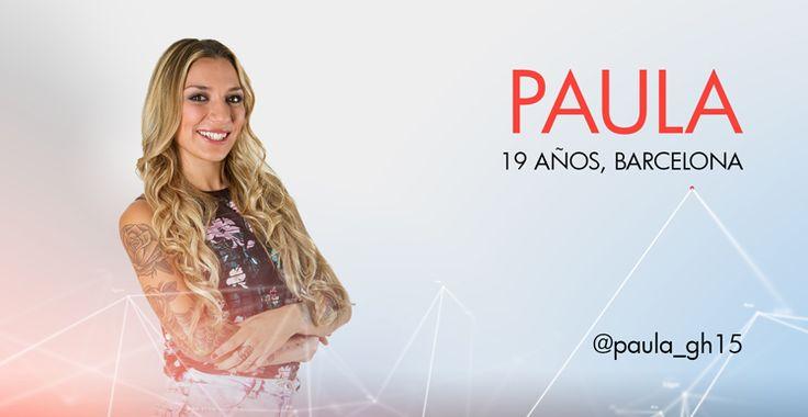 Gran Hermano | Paula concursante de gran hermano 15, página oficial