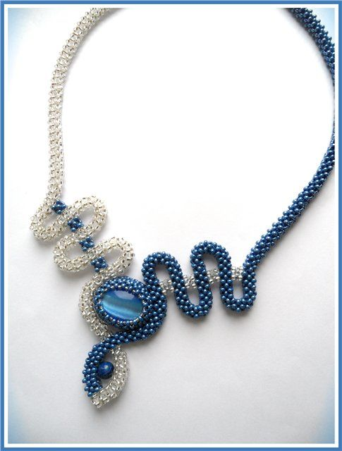 "Necklace ""Blue fad"" 