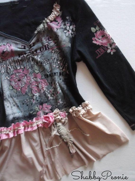 Romantic Boho clothing. Ruffle Tunic. French by 3vintagehearts