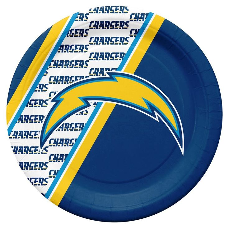 San Diego Chargers Disposable Paper Plates